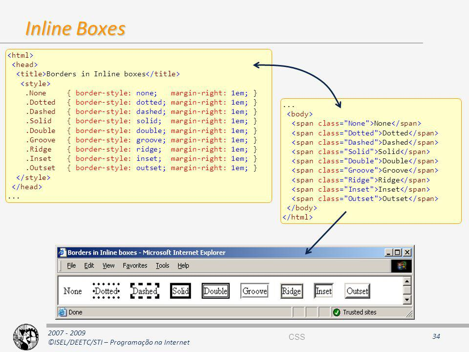 Inline Boxes <html> <head>
