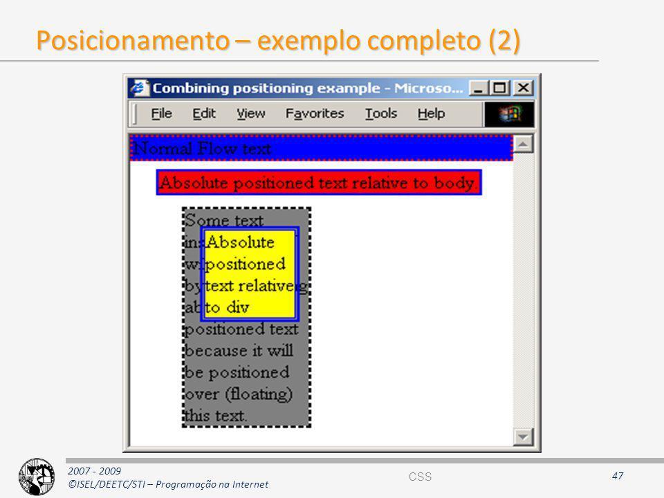 Posicionamento – exemplo completo (2)