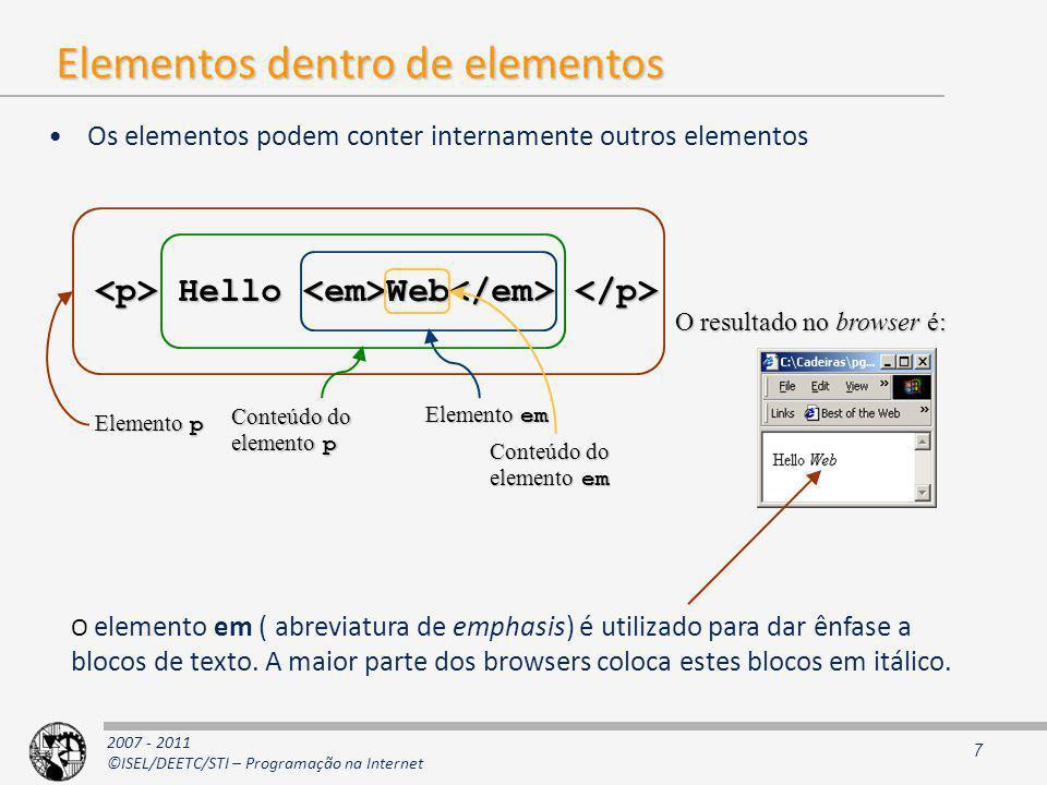 Elementos dentro de elementos