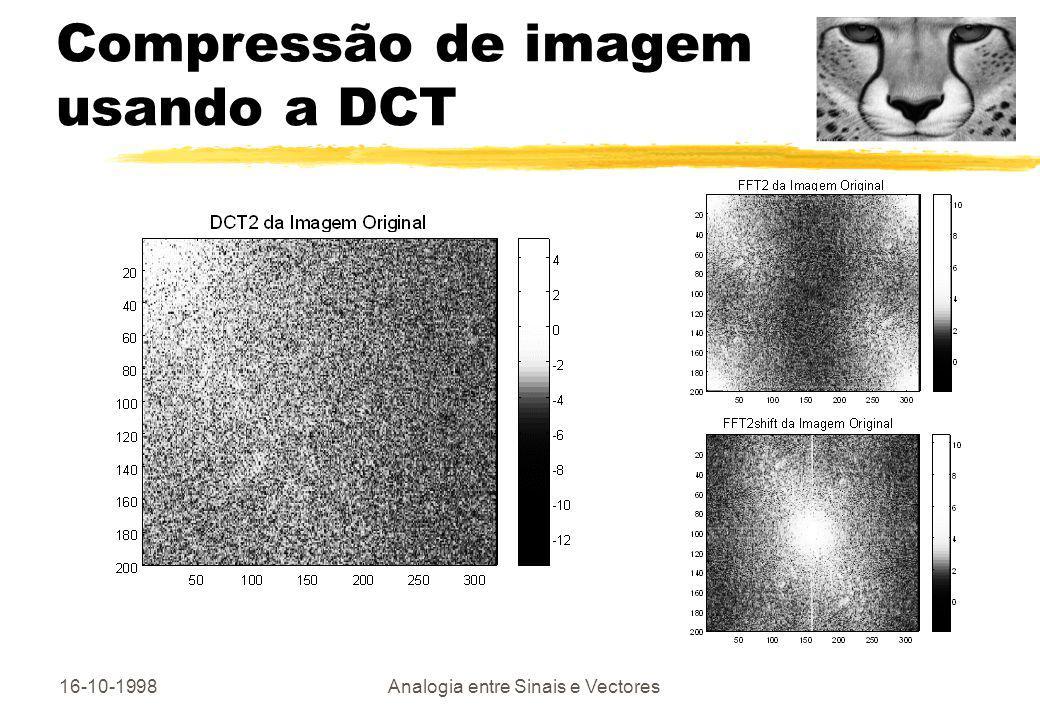 Compressão de imagem usando a DCT