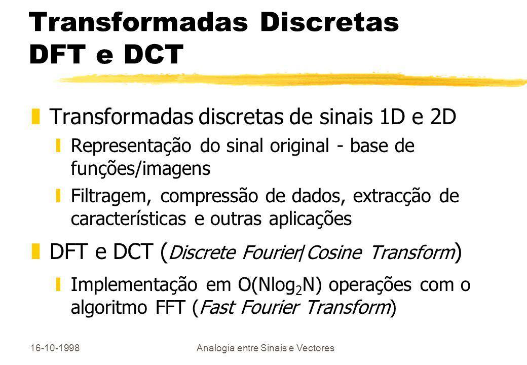 Transformadas Discretas DFT e DCT