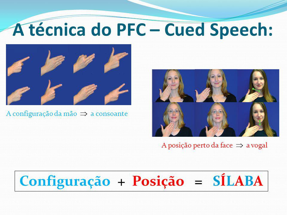 A técnica do PFC – Cued Speech: