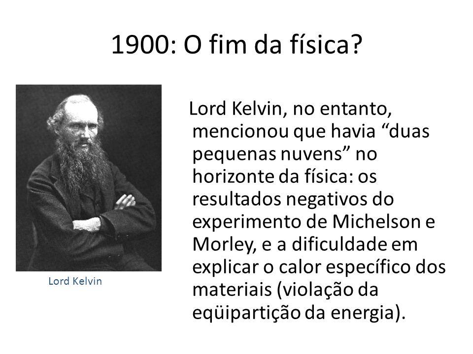 1900: O fim da física