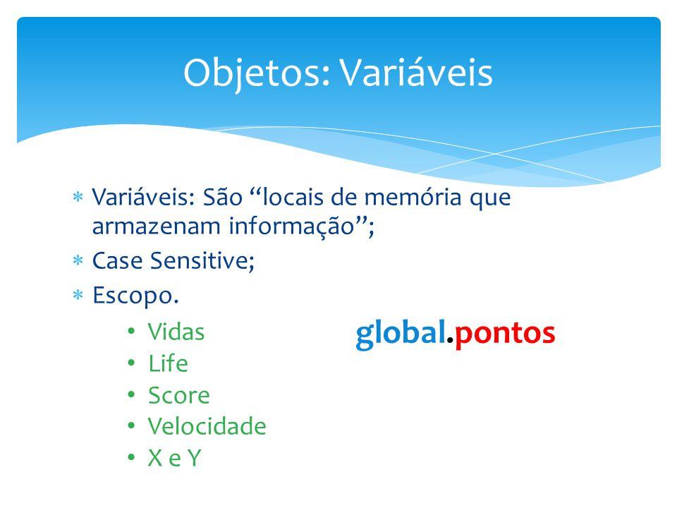 Objetos: Variáveis global.pontos