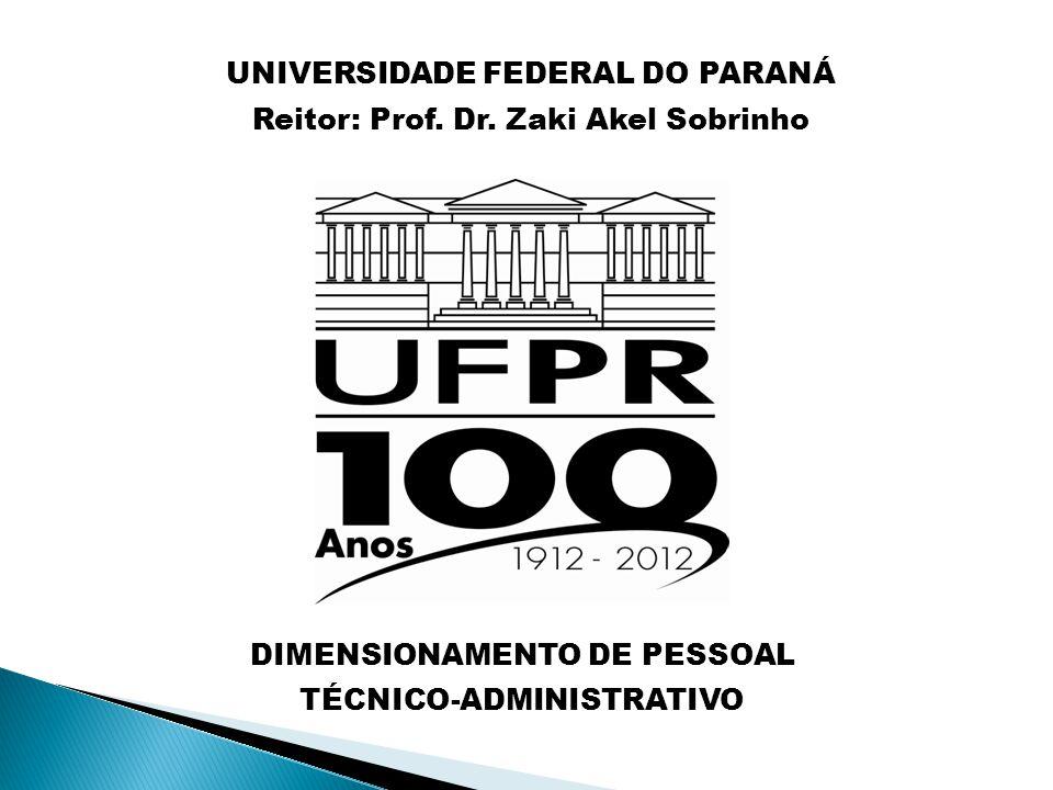 UNIVERSIDADE FEDERAL DO PARANÁ Reitor: Prof. Dr. Zaki Akel Sobrinho