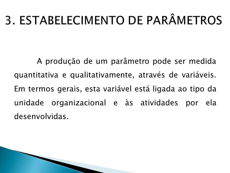 3. ESTABELECIMENTO DE PARÂMETROS
