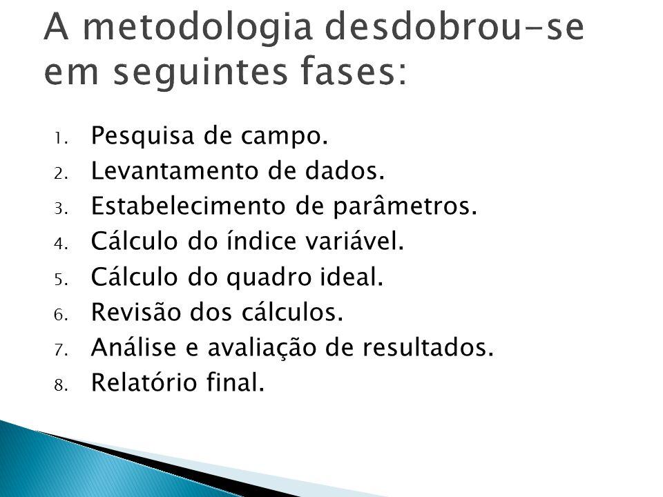 A metodologia desdobrou-se em seguintes fases: