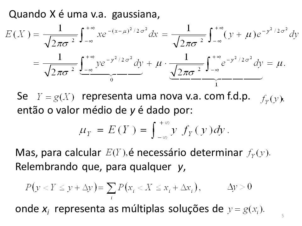 Quando X é uma v.a. gaussiana,