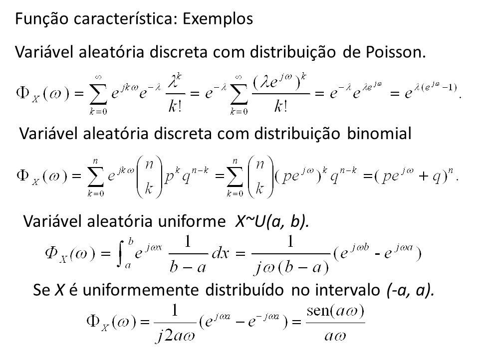 Função característica: Exemplos