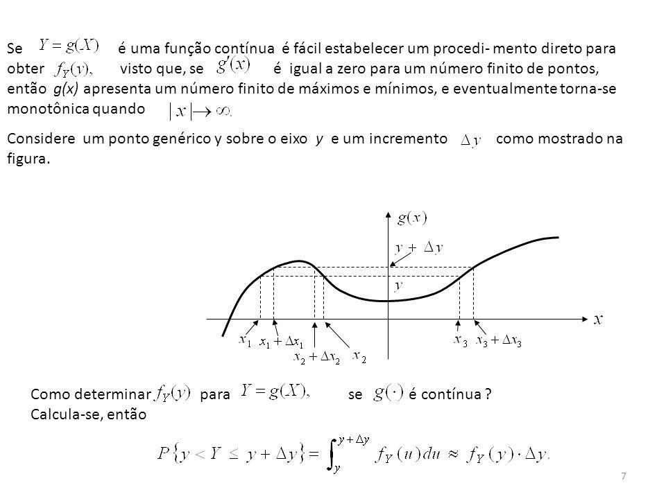 Se é uma função contínua é fácil estabelecer um procedi- mento direto para obter visto que, se é igual a zero para um número finito de pontos, então g(x) apresenta um número finito de máximos e mínimos, e eventualmente torna-se monotônica quando
