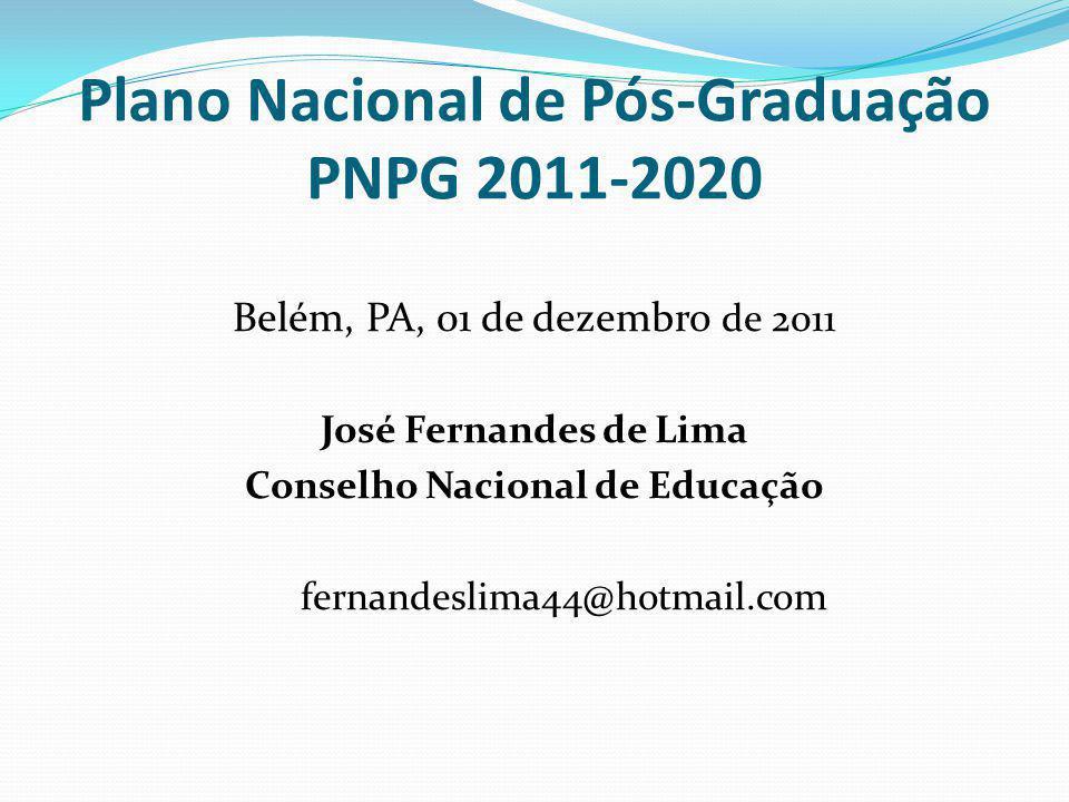 Plano Nacional de Pós-Graduação PNPG 2011-2020