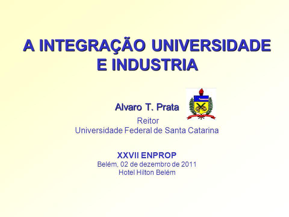A INTEGRAÇÃO UNIVERSIDADE E INDUSTRIA Alvaro T