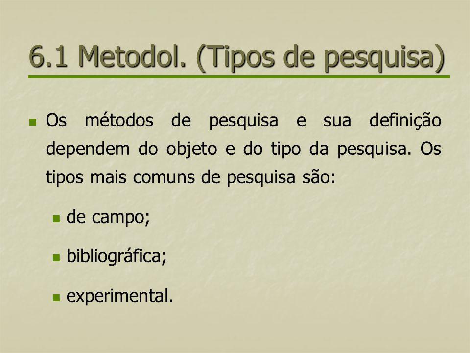 6.1 Metodol. (Tipos de pesquisa)