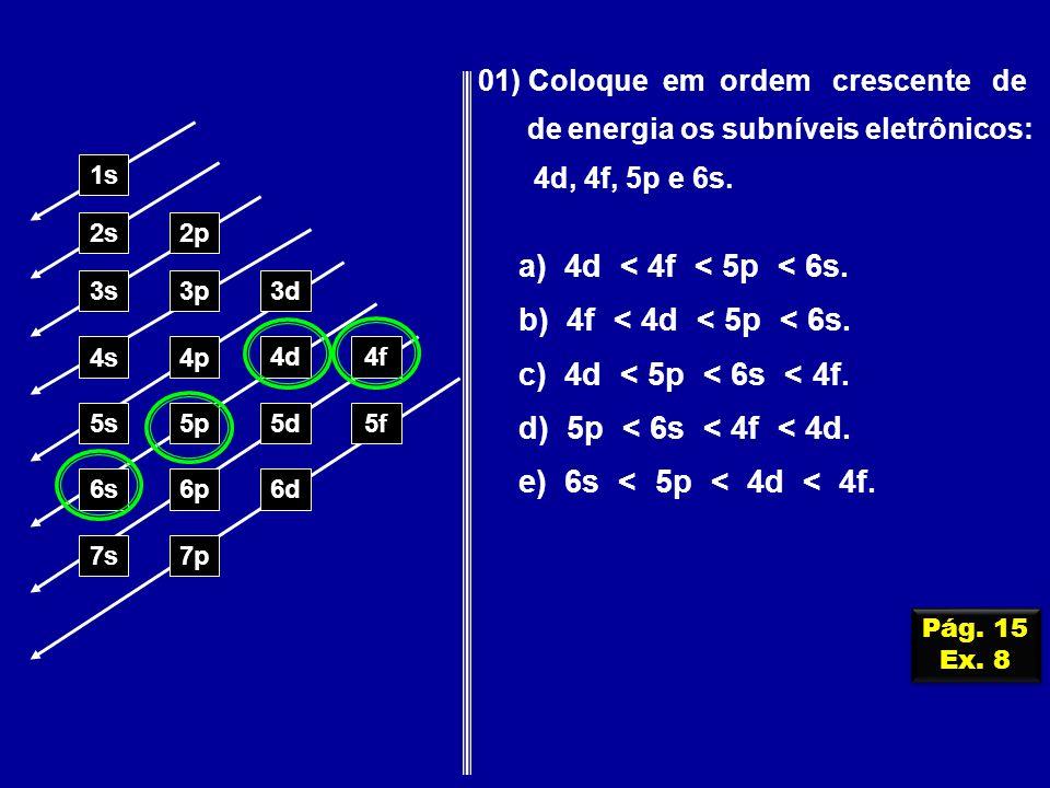 a) 4d < 4f < 5p < 6s. b) 4f < 4d < 5p < 6s.