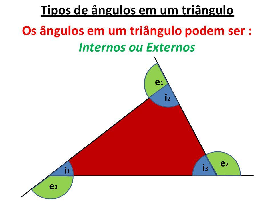 Tipos de ângulos em um triângulo