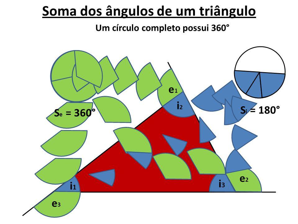 Soma dos ângulos de um triângulo Um círculo completo possui 360°