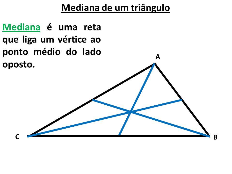 Mediana de um triângulo