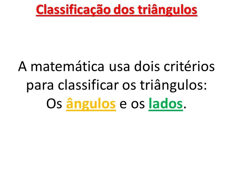 Classificação dos triângulos