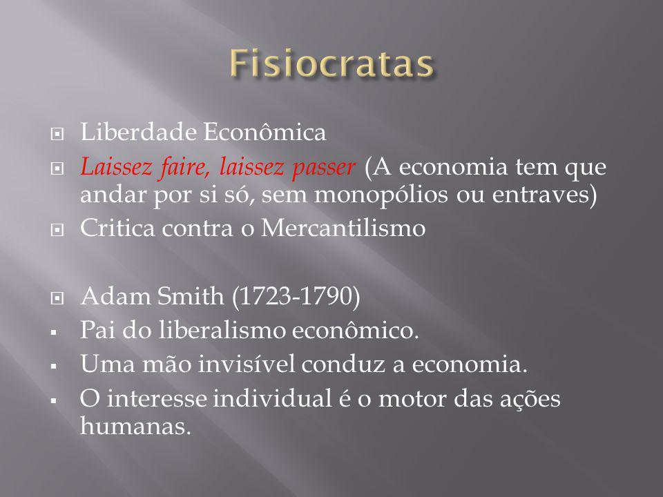 Fisiocratas Liberdade Econômica