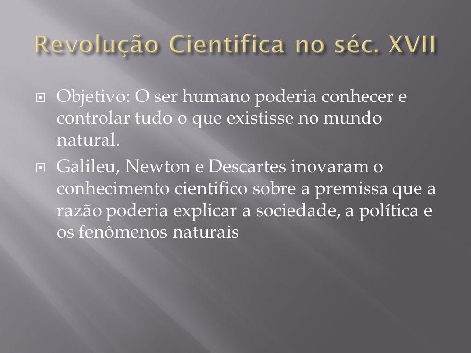 Revolução Cientifica no séc. XVII