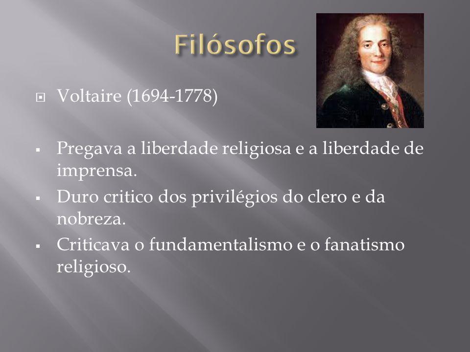 Filósofos Voltaire (1694-1778)