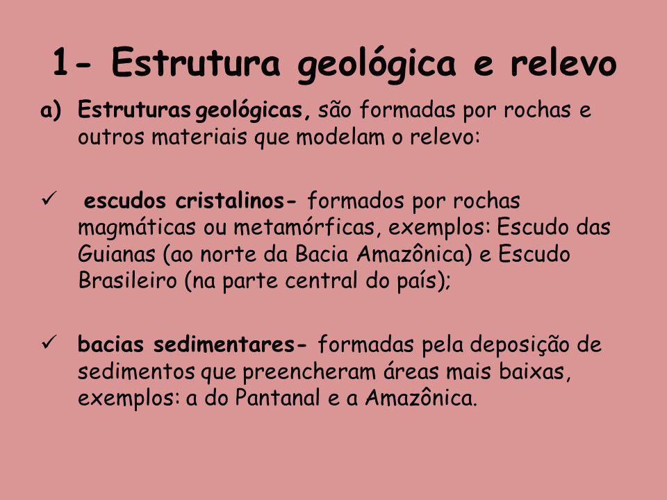 1- Estrutura geológica e relevo