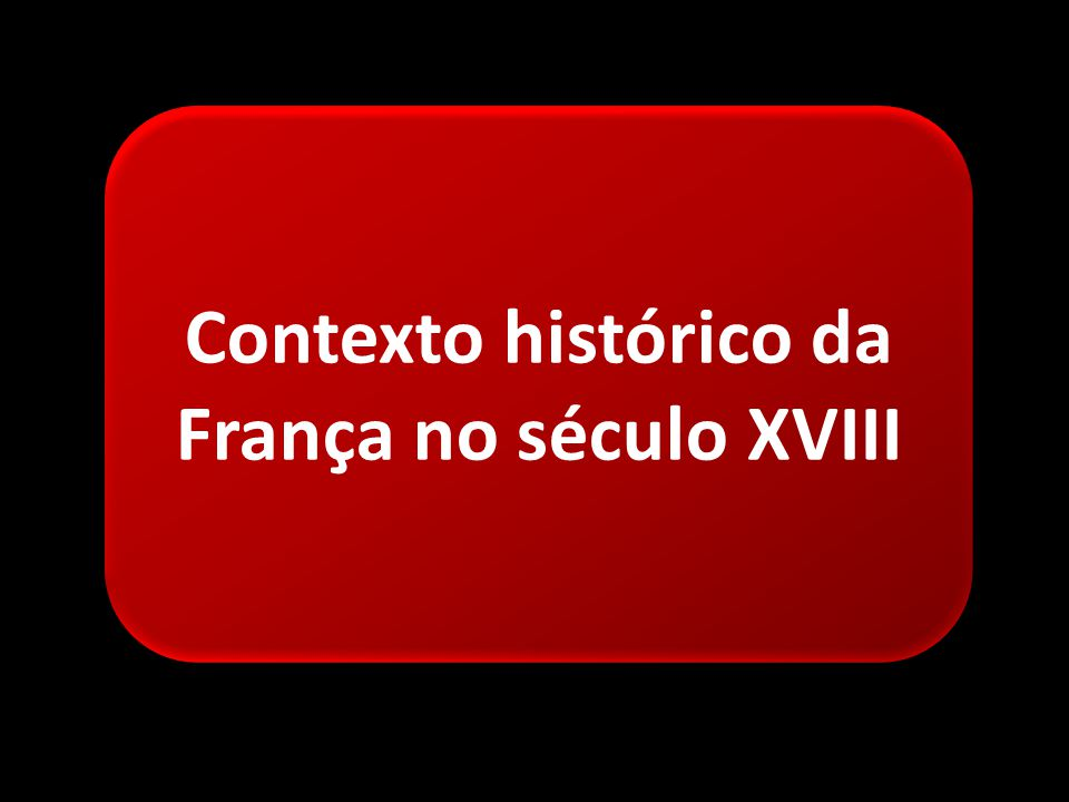 Contexto histórico da França no século XVIII