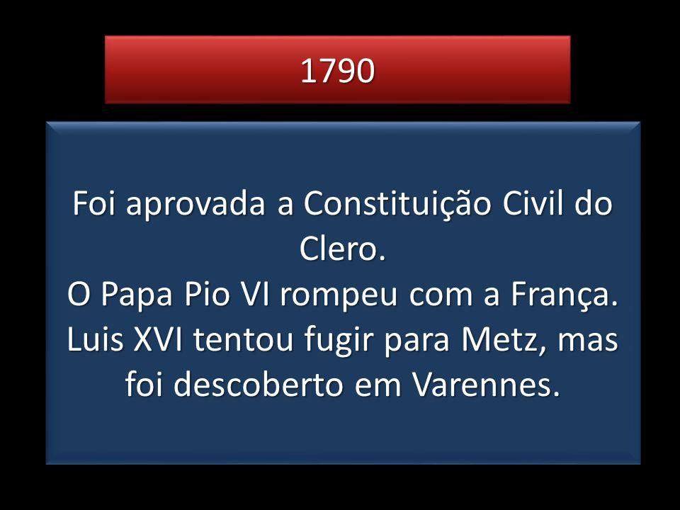 Foi aprovada a Constituição Civil do Clero.