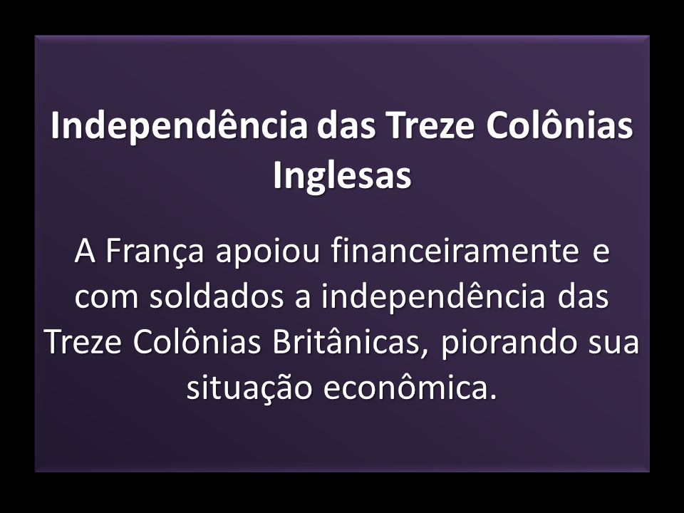 Independência das Treze Colônias Inglesas