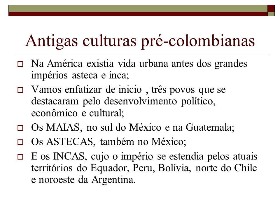Antigas culturas pré-colombianas