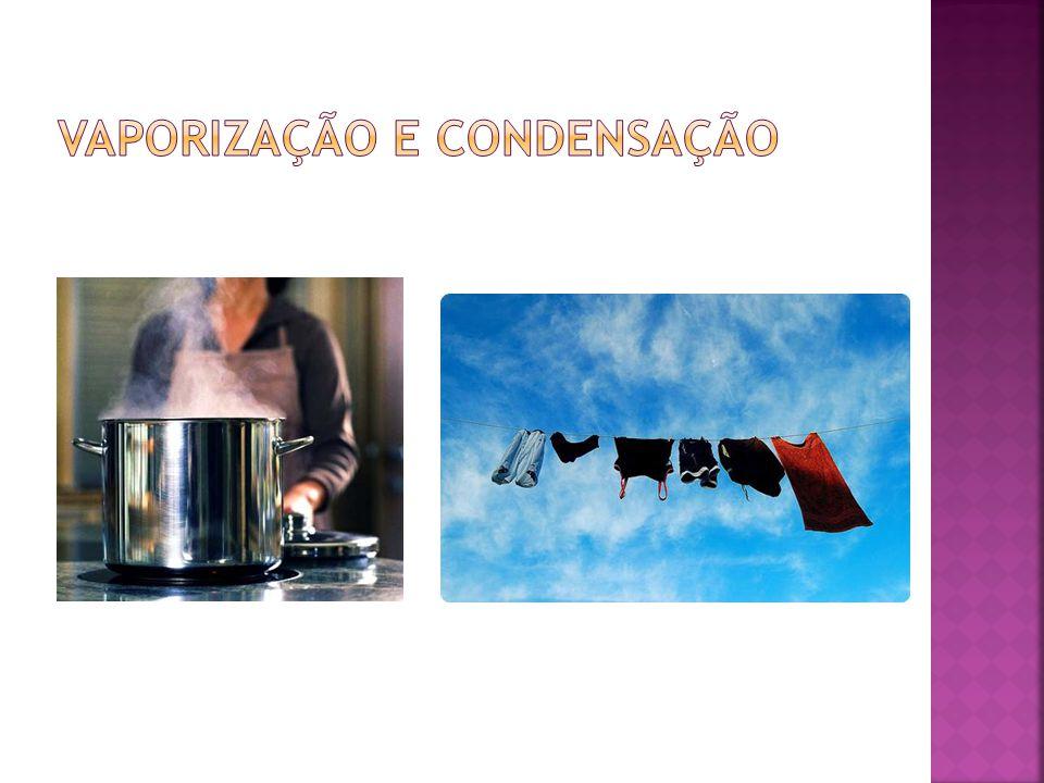 vaporização e condensação