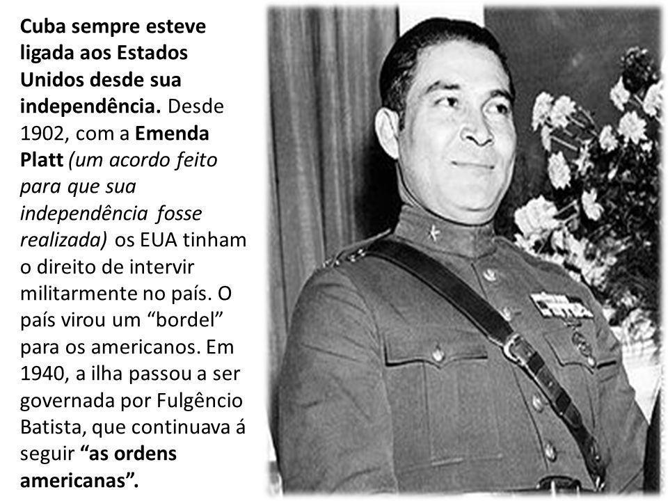 Cuba sempre esteve ligada aos Estados Unidos desde sua independência