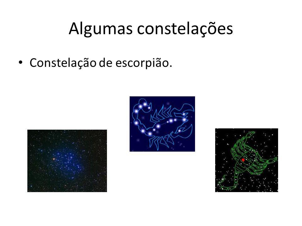 Algumas constelações Constelação de escorpião.