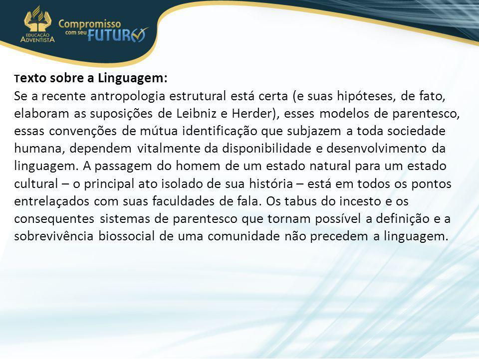 Texto sobre a Linguagem: