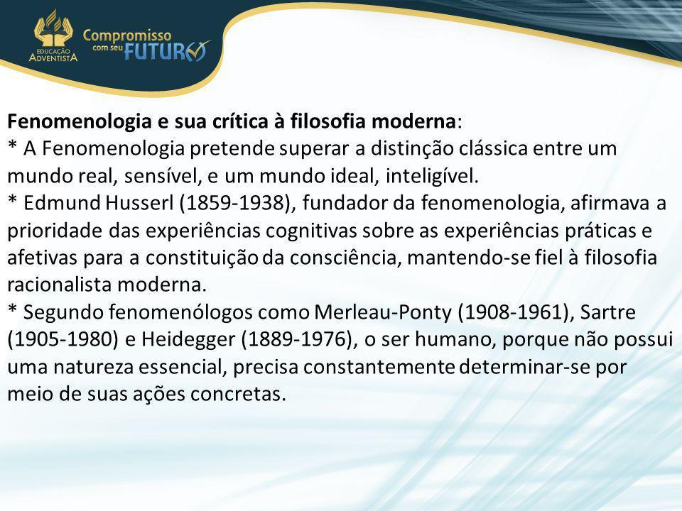 Fenomenologia e sua crítica à filosofia moderna:
