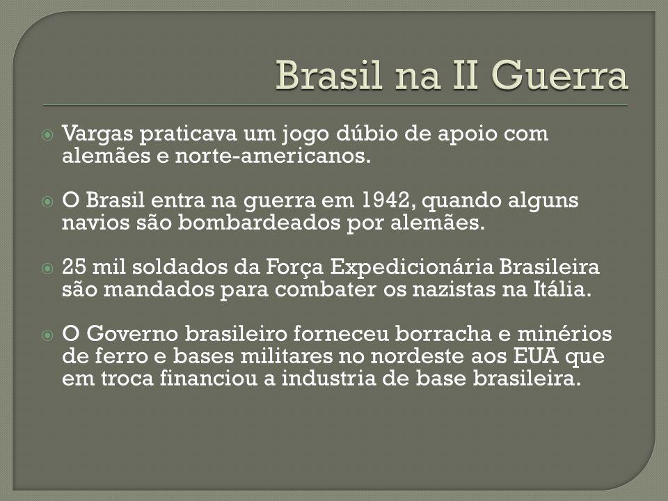 Brasil na II Guerra Vargas praticava um jogo dúbio de apoio com alemães e norte-americanos.