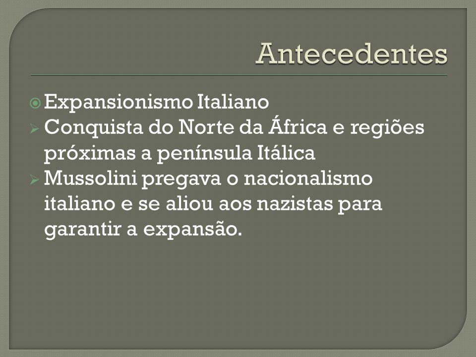 Antecedentes Expansionismo Italiano