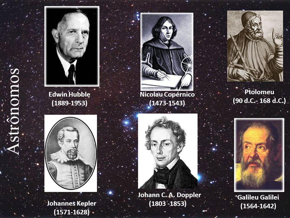 Astrônomos Ptolomeu (90 d.C.- 168 d.C.) Edwin Hubble (1889-1953)