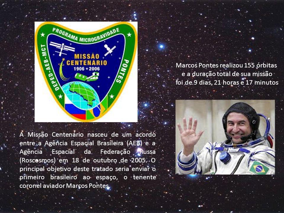 Marcos Pontes realizou 155 órbitas e a duração total de sua missão foi de 9 dias, 21 horas e 17 minutos