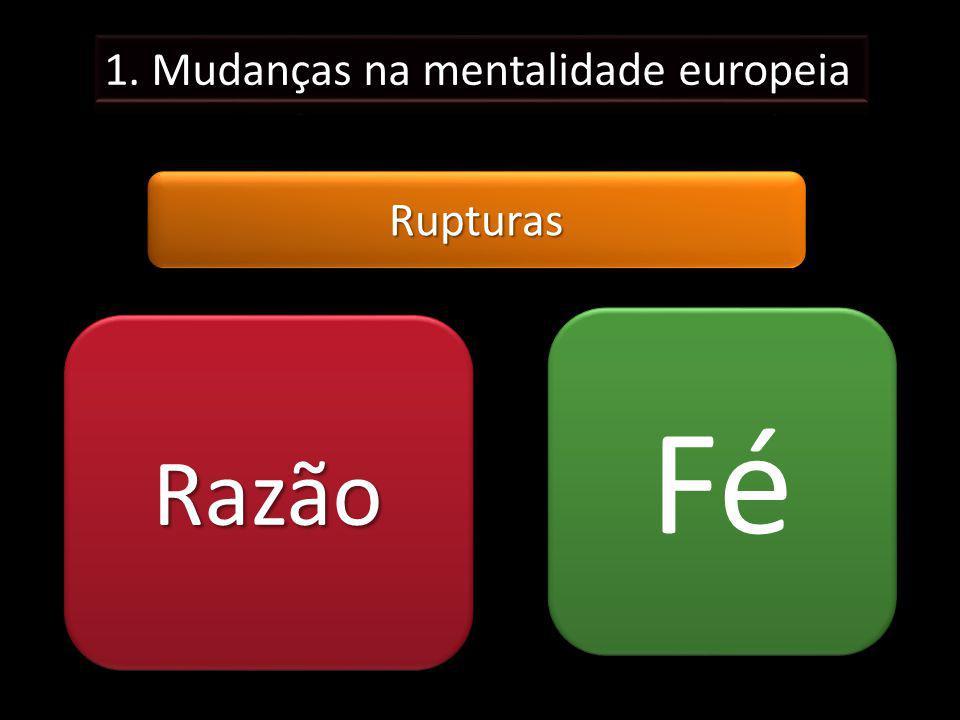 1. Mudanças na mentalidade europeia