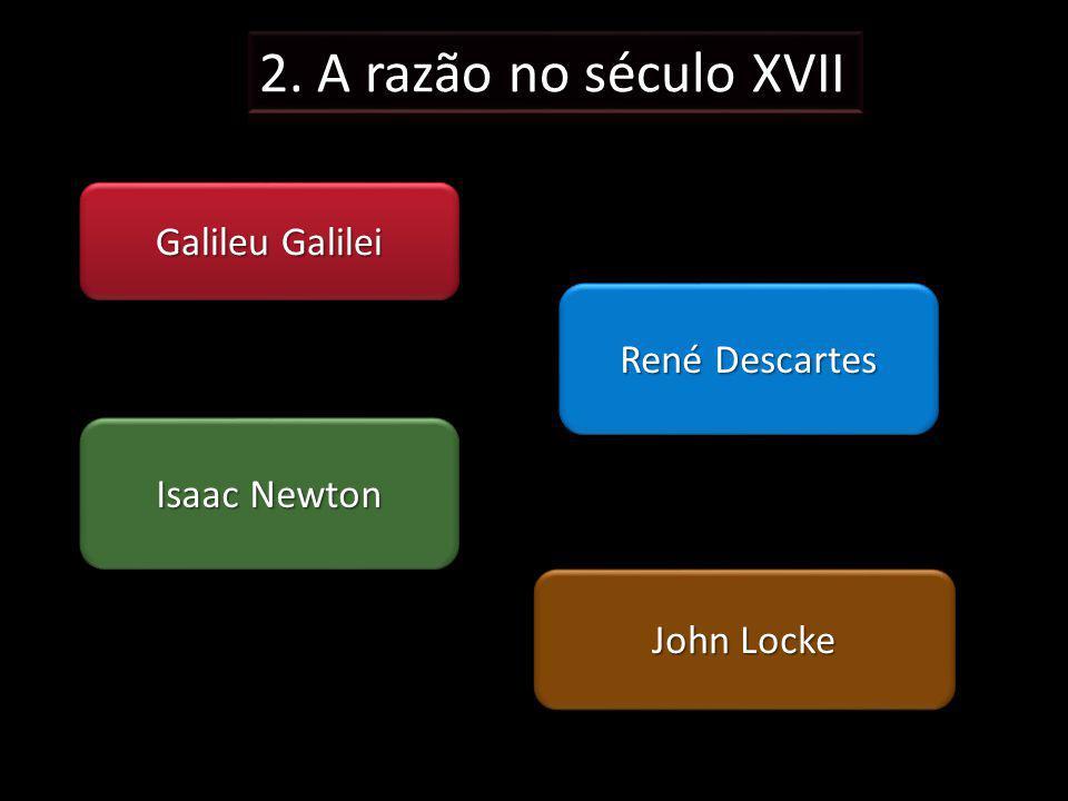 2. A razão no século XVII Galileu Galilei René Descartes Isaac Newton