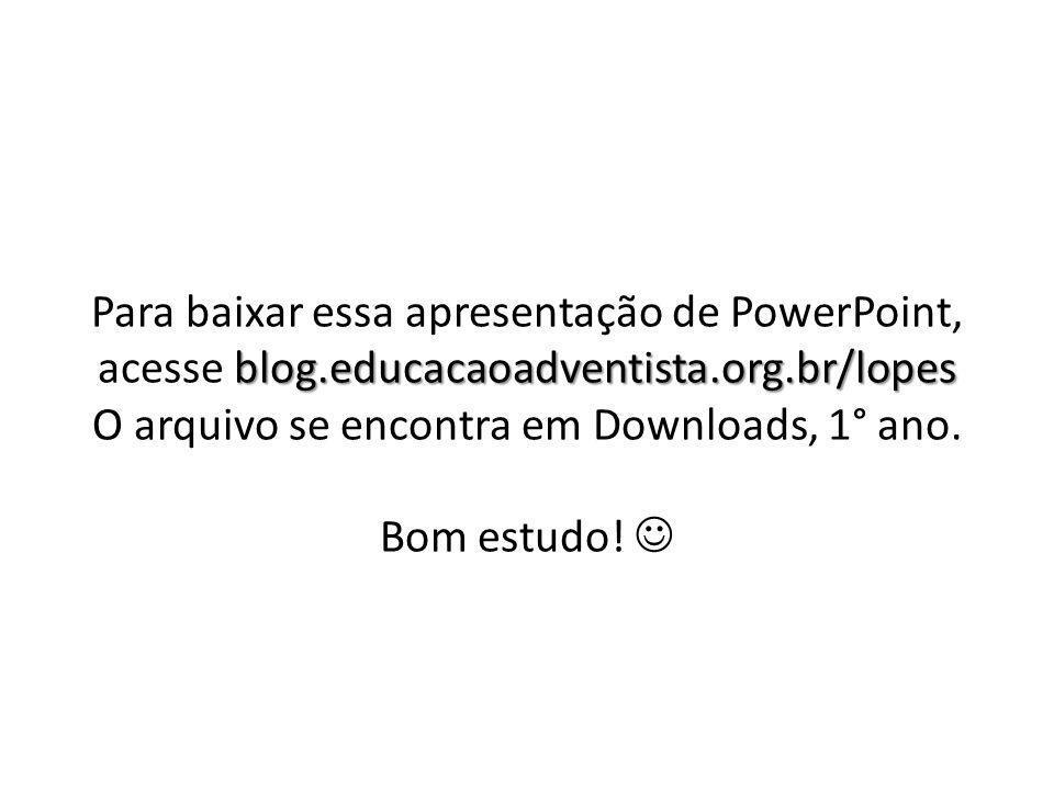 Para baixar essa apresentação de PowerPoint, acesse blog