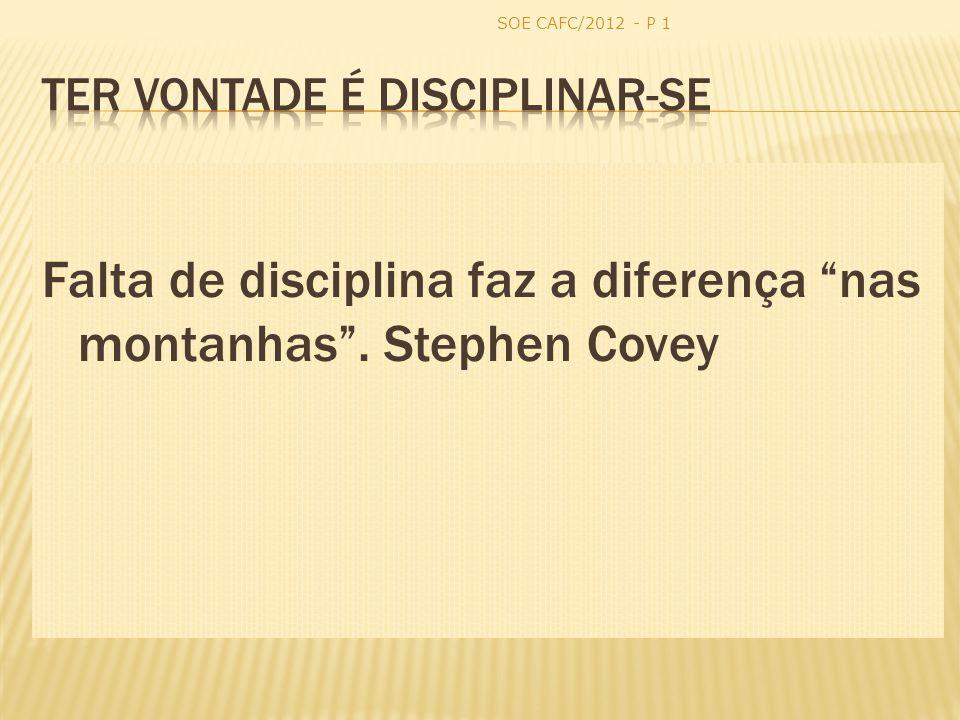 Ter vontade é disciplinar-se