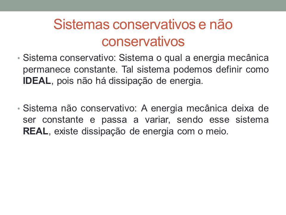 Sistemas conservativos e não conservativos