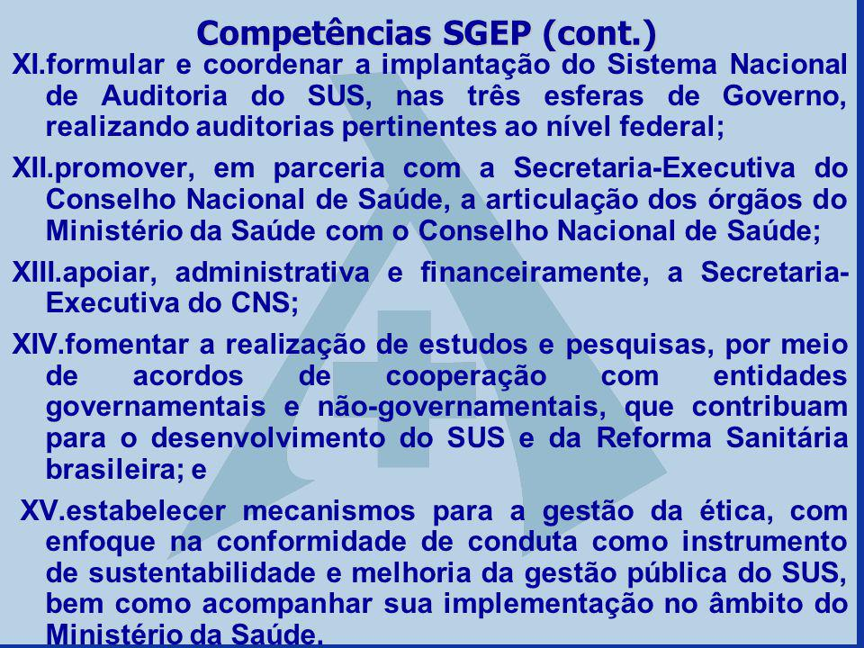 Competências SGEP (cont.)
