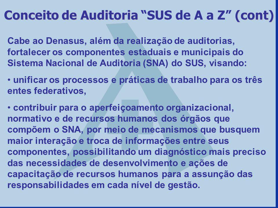 Conceito de Auditoria SUS de A a Z (cont)