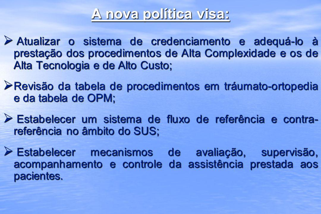 A nova política visa: