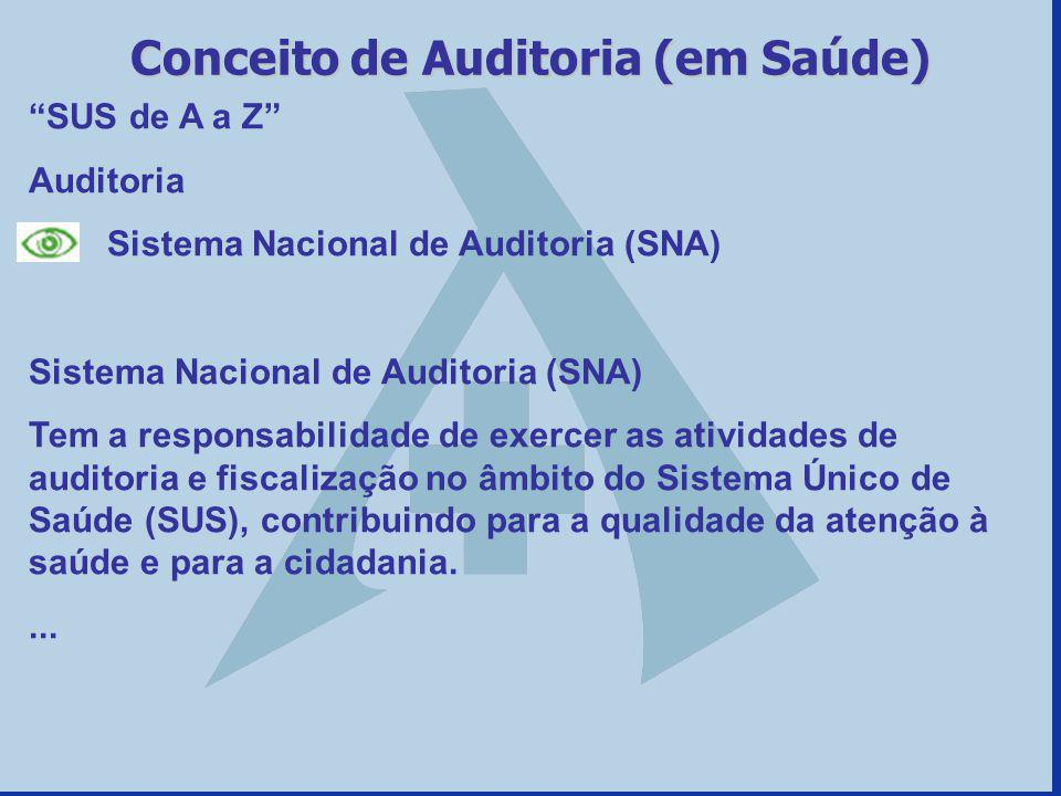 Conceito de Auditoria (em Saúde)