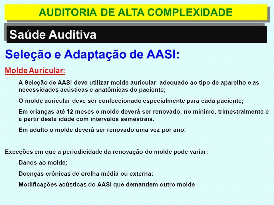 AUDITORIA DE ALTA COMPLEXIDADE