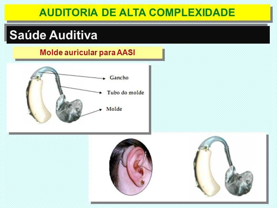 AUDITORIA DE ALTA COMPLEXIDADE Molde auricular para AASI